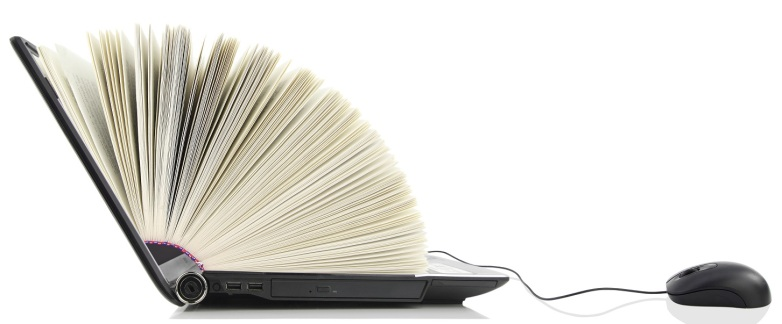Image of an eBook opening.